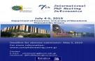 7th International PhD Meeting in Economics, 4-5 July, 2019