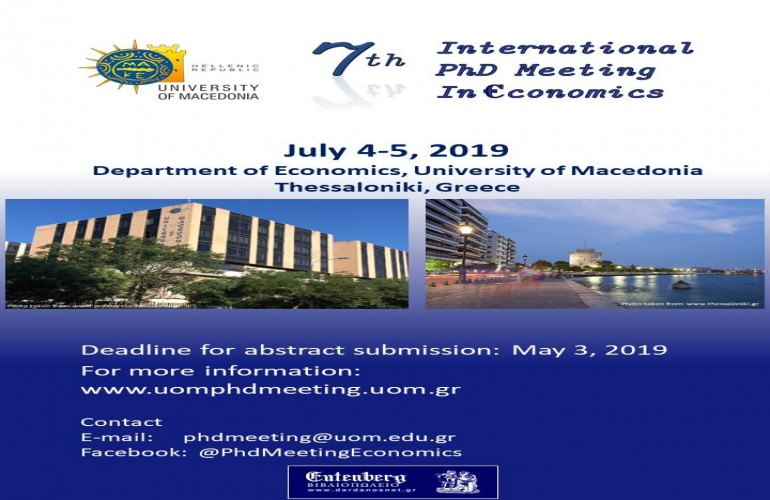 7th International PhD Meeting in Economics, 4-5 July, 2019