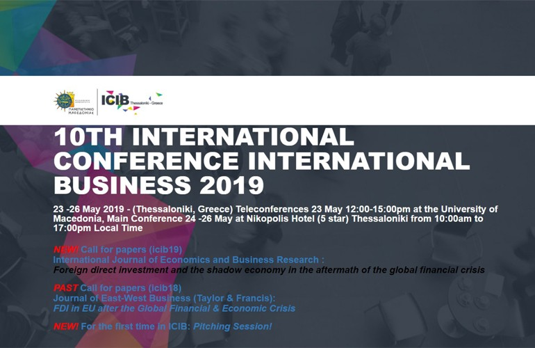 10th International Conference on International Business (ICIB 2019) , 23-26.5.2019