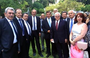 Οι Πρυτανικές Αρχές στο Προεδρικό Μέγαρο, με την ευκαιρία της 45ης επετείου της αποκατάστασης της Δημοκρατίας