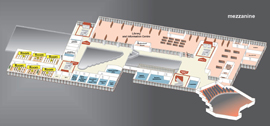 Mezzanine interior plan<br />Halls and Auditoriums