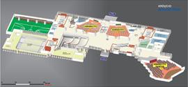 Εσωτερική κάτοψη του ισογείου<br />Αίθουσες Αμφιθέατρα