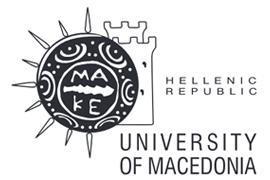 Αγγλικό Λογότυπο Πανεπιστημίου Μακεδονίας